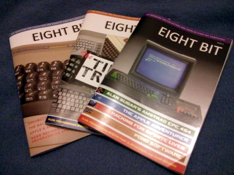 3 numéros de Eight Bit Magazine