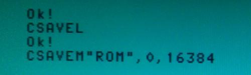 Sauver la ROM sur K7